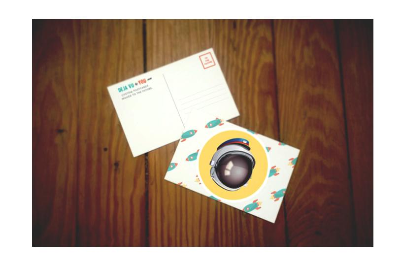 Deja Vu Postcard Example